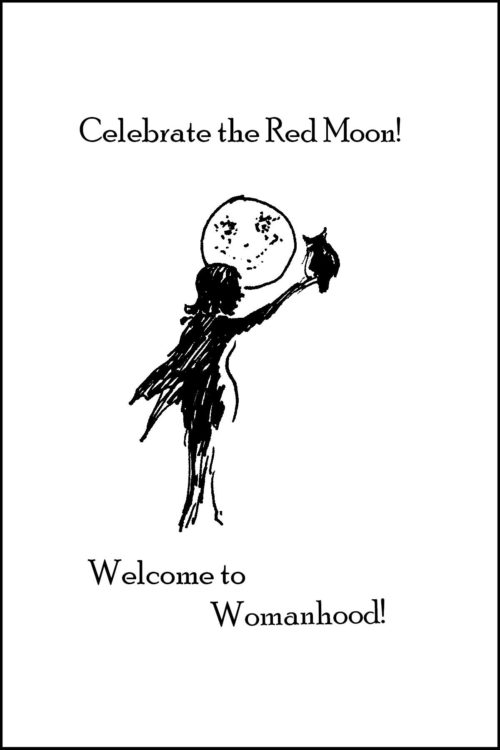 Red Moon celebration of first menses