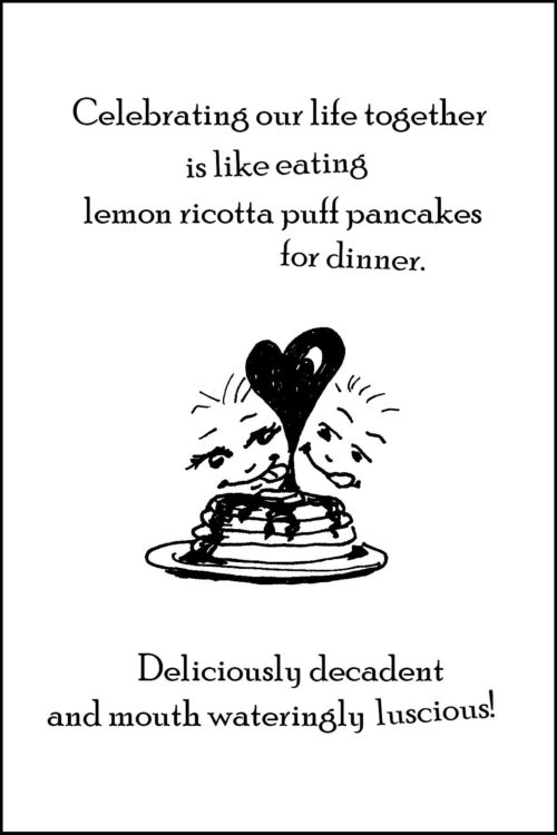 Anniversary - Lemon pancakes